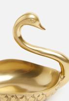 Sixth Floor - Swan trinket tray - gold