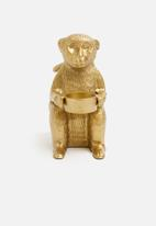 Sixth Floor - Monkey candle holder - gold