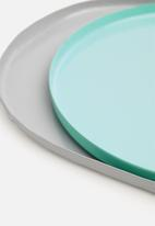 Sixth Floor - Dakarai tray set - blue & grey