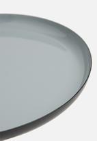 Sixth Floor - Sam tri side table - matte black & grey