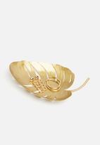 Sixth Floor - Leaf trinket tray - matte gold