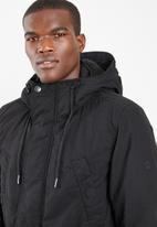 G-Star RAW - Vodan padded hdd sherpa parka - black