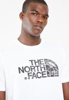 The North Face - Woodcut dome short sleeve tee - white