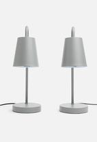 Sixth Floor - Essential table lamp set of 2 - charcoal grey
