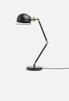 Sixth Floor - Ibiza desk lamp - black/brass