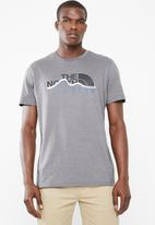 The North Face - Mountain line short sleeve tee - charcoal