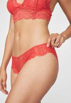 Cotton On - Maddie bikini brief - cherry red