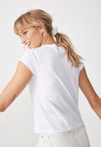 Cotton On - Tbar Rachael graphic tee - white