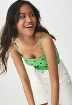 Cotton On - Carissa summer straight back bodysuit - green