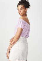 Cotton On - Sally off the shoulder top - purple