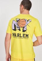 Cotton On - NYC smash t-bar tee  - yellow