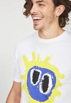 Cotton On - Primal scream t-bar collaboration tee - white