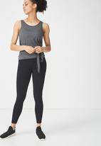 Cotton On - Wrap back tank top - charcoal