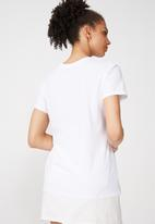 Cotton On - Tbar fox fierce graphic tee -  white