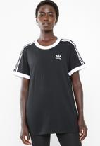 adidas Originals - 3 stripe tee - black & white