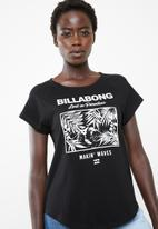 Billabong  - Rumble raglan tee - black