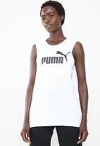 PUMA - Cut off boyfriend tank - black & white