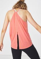 Cotton On - High neck tank top - peach