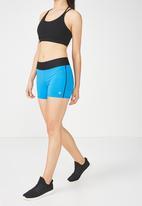 Cotton On - Active gym shorts - blue & black
