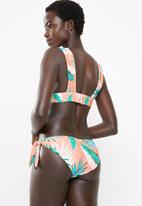 Rip Curl - Sunkissed palms cheeky bikini bottom - peach