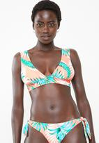 Rip Curl - Sunkissed palms deep V-neck top - peach