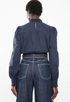 Vero Moda - Dawn long sleeve midi shirt - navy