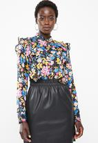 Vero Moda - Betty long sleeve midi top - multi