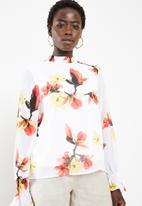 Vero Moda - Katy long sleeve high neck top - multi