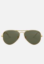 Ray-Ban - Aviator sunglasses 58mm - gold/crystal green polarised