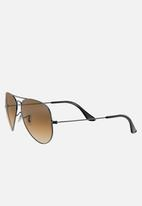 Ray-Ban - Aviator sunglasses 58mm - gunmetal/crystal gradient brown