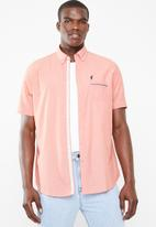STYLE REPUBLIC - Gentleman short sleeve shirt - peach