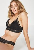 Cotton On - Stephanie bralette - black