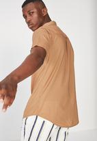 Cotton On - Vintage prep short sleeve shirt - brown