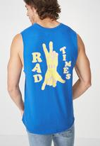 Cotton On - Rad times tbar muscle tee - blue