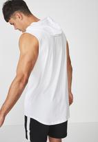 Cotton On - Hustle muscle - white