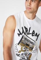 Cotton On - Ghetto Tbar muscle tee - white