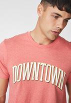 Cotton On - Downtown Tbar tee - dark peach