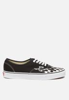 Vans - Authentic checker flame - black & white
