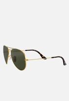 Ray-Ban - Aviator sunglasses  58mm - gold / dark green