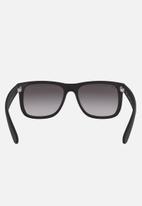 Ray-Ban - Justin sunglasses 55mm- rubber black/grey gradient