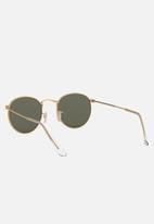 Ray-Ban - Round metal sunglasses - matte gold/polar green