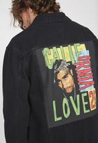 Cotton On - Rodeo Tupac California love collaboration jacket - black