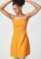 Cotton On - Woven krissy dress - yellow
