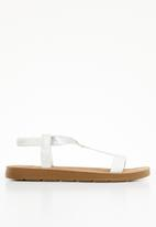 Butterfly Feet - Reese T-bar sandals - white