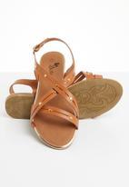 Butterfly Feet - Radiya strappy sandal - tan