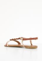 Butterfly Feet - Farial flower detail sandals - tan