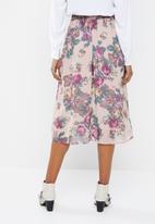 Vero Moda - Gina calf skirt - peach & pink