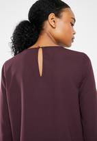 Vero Moda - Dagmar long sleeve midi blouse - burgundy