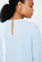 Vero Moda - Dagmar long sleeve midi blouse - blue
