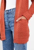 Vero Moda - Ami surf long sleeve open cardigan - orange
